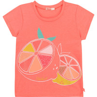 vaatteet Tytöt Lyhythihainen t-paita Billieblush / Billybandit U15864-499 Vaaleanpunainen
