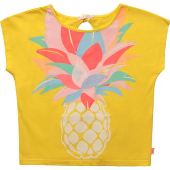 vaatteet Tytöt Lyhythihainen t-paita Billieblush / Billybandit U15873-548 Keltainen