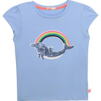 vaatteet Tytöt Lyhythihainen t-paita Billieblush / Billybandit U15875-798 Sininen