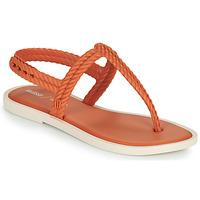 kengät Naiset Varvassandaalit Melissa FLASH SANDAL & SALINAS Oranssi / Beige