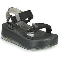 kengät Naiset Sandaalit ja avokkaat Melissa PAPETE PLATFORM + RIDER Musta / Harmaa
