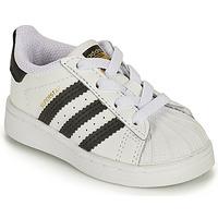 kengät Lapset Matalavartiset tennarit adidas Originals SUPERSTAR EL I Valkoinen / Musta