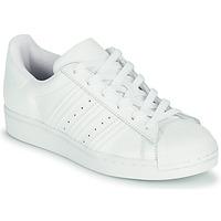 kengät Lapset Matalavartiset tennarit adidas Originals SUPERSTAR J Valkoinen