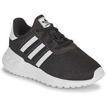 kengät Lapset Matalavartiset tennarit adidas Originals LA TRAINER LITE EL I Musta / Valkoinen