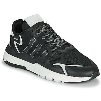kengät Miehet Matalavartiset tennarit adidas Originals NITE JOGGER Musta