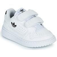 kengät Lapset Matalavartiset tennarit adidas Originals NY 92 CF I Valkoinen / Musta