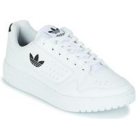 kengät Lapset Matalavartiset tennarit adidas Originals NY 92 J Valkoinen / Musta