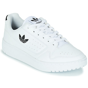 kengät Lapset Matalavartiset tennarit adidas Originals NY 92 J White / Black