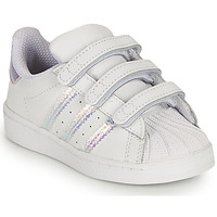 kengät Tytöt Matalavartiset tennarit adidas Originals SUPERSTAR CF I Valkoinen