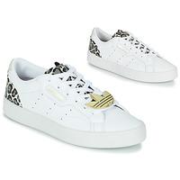 kengät Naiset Matalavartiset tennarit adidas Originals adidas SLEEK W Valkoinen / Leopardi