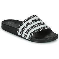 kengät Naiset Rantasandaalit adidas Originals ADILETTE W Musta / Valkoinen