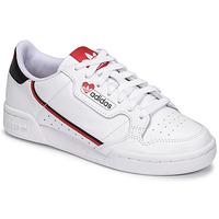 kengät Naiset Matalavartiset tennarit adidas Originals CONTINENTAL 80 Valkoinen / Punainen