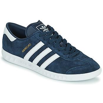 kengät Miehet Matalavartiset tennarit adidas Originals HAMBURG Laivastonsininen