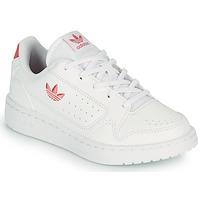kengät Lapset Matalavartiset tennarit adidas Originals NY 92 C Valkoinen / Vaaleanpunainen
