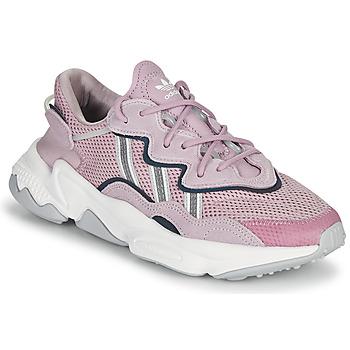kengät Naiset Matalavartiset tennarit adidas Originals OZWEEGO W Violetti