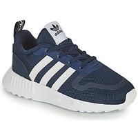 kengät Lapset Matalavartiset tennarit adidas Originals SMOOTH RUNNER EL I Laivastonsininen / Valkoinen