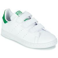 kengät Lapset Matalavartiset tennarit adidas Originals STAN SMITH CF C SUSTAINABLE Valkoinen / Vihreä / Vegan