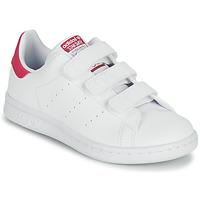 kengät Tytöt Matalavartiset tennarit adidas Originals STAN SMITH CF C SUSTAINABLE Valkoinen / Vaaleanpunainen