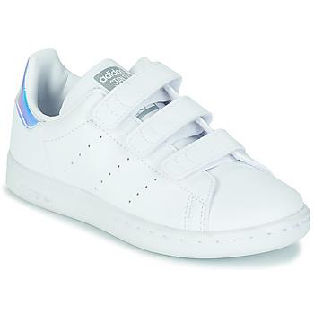 kengät Tytöt Matalavartiset tennarit adidas Originals STAN SMITH CF C SUSTAINABLE Valkoinen