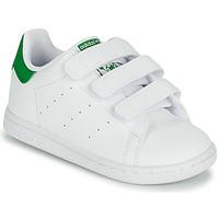 kengät Lapset Matalavartiset tennarit adidas Originals STAN SMITH CF I SUSTAINABLE Valkoinen / Vihreä