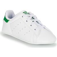 kengät Lapset Matalavartiset tennarit adidas Originals STAN SMITH CRIB SUSTAINABLE Valkoinen / Vihreä