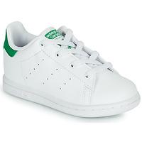 kengät Lapset Matalavartiset tennarit adidas Originals STAN SMITH EL I SUSTAINABLE Valkoinen / Vihreä