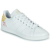 kengät Naiset Matalavartiset tennarit adidas Originals STAN SMITH W SUSTAINABLE Valkoinen / Monivärinen