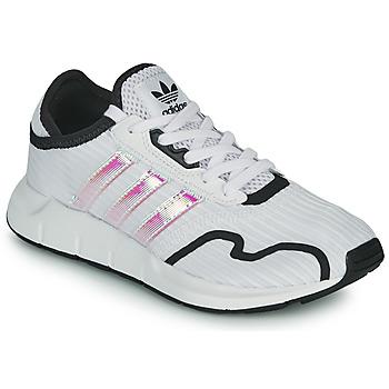 kengät Tytöt Matalavartiset tennarit adidas Originals SWIFT RUN X J Valkoinen