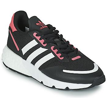 kengät Naiset Matalavartiset tennarit adidas Originals ZX 1K BOOST W Musta / Vaaleanpunainen