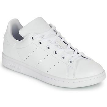 kengät Lapset Matalavartiset tennarit adidas Originals STAN SMITH J SUSTAINABLE Valkoinen