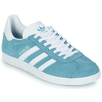 kengät Naiset Matalavartiset tennarit adidas Originals GAZELLE W Sininen