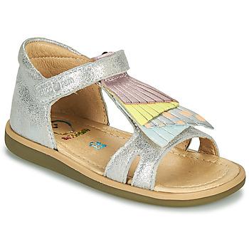 kengät Tytöt Sandaalit ja avokkaat Shoo Pom TITY FALLS Hopea