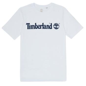 vaatteet Pojat Lyhythihainen t-paita Timberland FONTANA Valkoinen