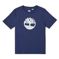vaatteet Pojat Lyhythihainen t-paita Timberland TRISTA Sininen