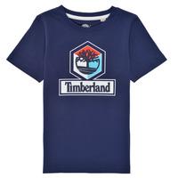 vaatteet Pojat Lyhythihainen t-paita Timberland GRISS Laivastonsininen