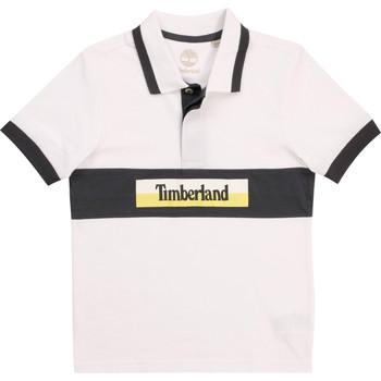 vaatteet Pojat Lyhythihainen poolopaita Timberland DOTTO Valkoinen