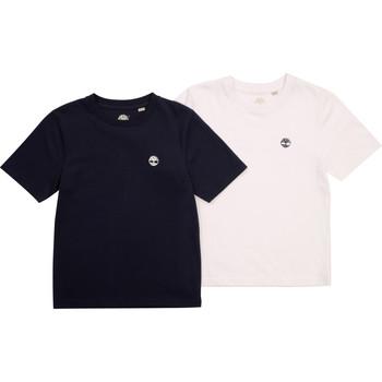 vaatteet Pojat Lyhythihainen t-paita Timberland FONNO Monivärinen