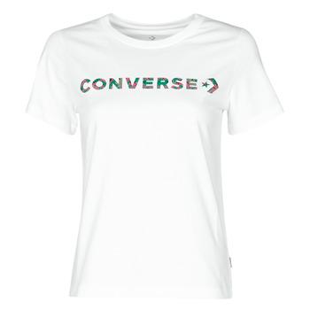 vaatteet Naiset Lyhythihainen t-paita Converse CENTER FRONT ICON CLASSIC TEE Valkoinen