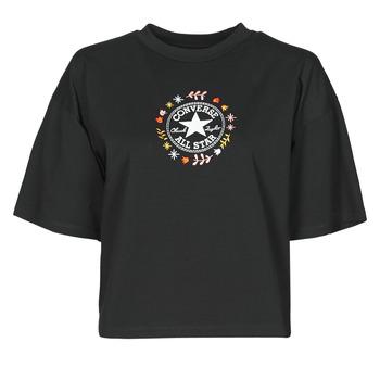 vaatteet Naiset Lyhythihainen t-paita Converse CHUCK WOMENS WANDER TANK Musta