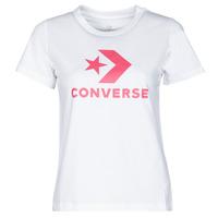 vaatteet Naiset Lyhythihainen t-paita Converse STAR CHEVRON CENTER FRONT TEE Valkoinen