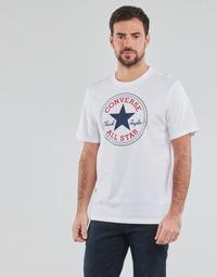 vaatteet Miehet Lyhythihainen t-paita Converse NOVA CHUCK PATCH TEE Valkoinen