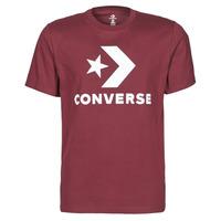 vaatteet Miehet Lyhythihainen t-paita Converse STAR CHEVRON TEE Viininpunainen