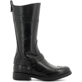 kengät Lapset Saappaat Geox J6449B 00043 Musta