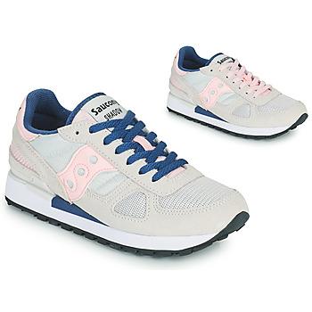 kengät Naiset Matalavartiset tennarit Saucony SHADOW ORIGINAL Harmaa / Vaaleanpunainen / Sininen