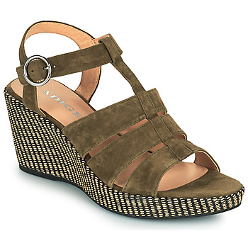 kengät Naiset Sandaalit ja avokkaat Adige FLORY V5 VELOURS MILITAIRE Khaki