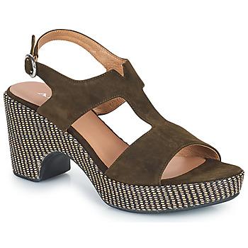 kengät Naiset Sandaalit ja avokkaat Adige ROMA V5 VELOURS MILITAR Khaki