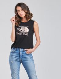 vaatteet Naiset Hihattomat paidat / Hihattomat t-paidat The North Face W SEASONAL GRAPHIC TANK Musta