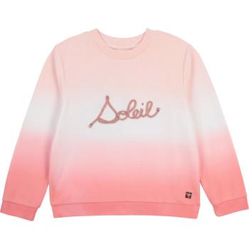 vaatteet Tytöt Svetari Carrément Beau Y15373-N44 Valkoinen / Vaaleanpunainen