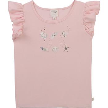 vaatteet Tytöt Lyhythihainen t-paita Carrément Beau Y15378-44L Vaaleanpunainen