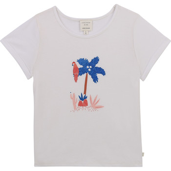 vaatteet Tytöt Lyhythihainen t-paita Carrément Beau Y15383-10B Valkoinen
